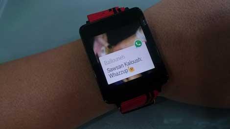 الإشعار بوصول رسالة واتس آب على ساعة أندرويد وير