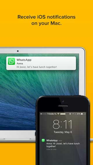 تطبيق Notifyr لاستقبال إشعارات الأيفون على جهازك الماك