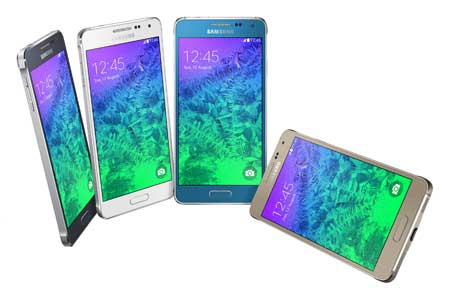 ألوان جهاز سامسونج Galaxy Alpha