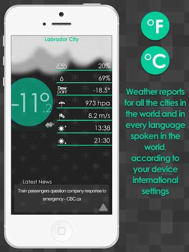 تطبيق Weather ...WOW! لعرض حالة الطقس للأندرويد