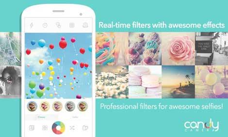 تطبيق Candy Camera - Selfie Selfies للصور وتحريرها