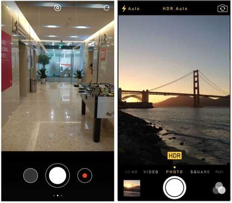 تقليد تطبيق الكاميرا في الأيفون
