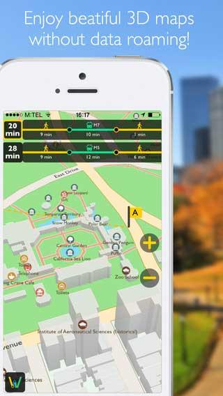 تطبيق Wayper خرائط بدون انترنت للعديد من الدول