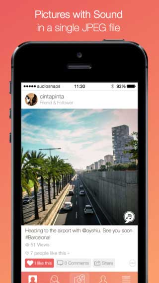 تطبيق AudioSnaps الصورة مع الصوت