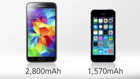[ مقارنة شاملة ] : هاتف iPhone 5s ضد Galaxy S5 : البطارية