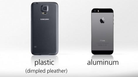 [ مقارنة شاملة ] : هاتف iPhone 5s ضد Galaxy S5 : التصميم
