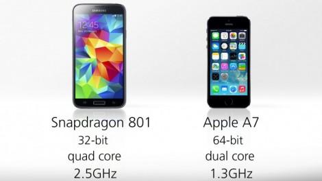 [ مقارنة شاملة ] : هاتف iPhone 5s ضد Galaxy S5 : المعالج