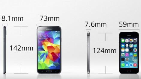 [ مقارنة شاملة ] : هاتف iPhone 5s ضد Galaxy S5 : الحجم