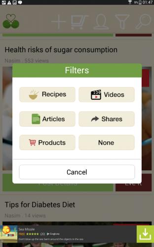 تطبيق Healthy choices with Foodlve شبكة اجتماعية لمحبي الغذاء الصحي !