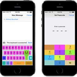 سيديا: أداة ColorfulKBD لتغيير ألوان لوحة المفاتيح للأيفون