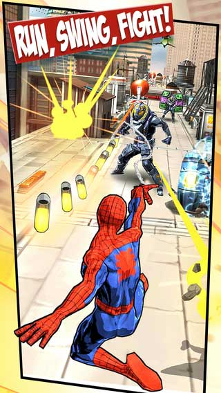 لعبة Spider-Man Unlimited للأيفون والآيباد