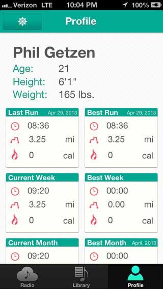 تطبيق TempoRun إحصائيات نشاطاتك البدنية