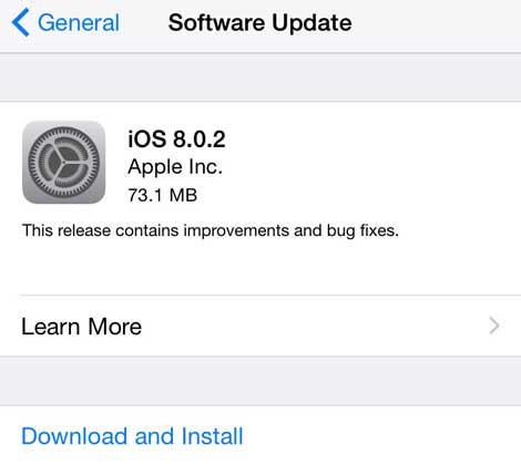آبل تطلق التحديث رقم 8.0.1 لنظام IOS