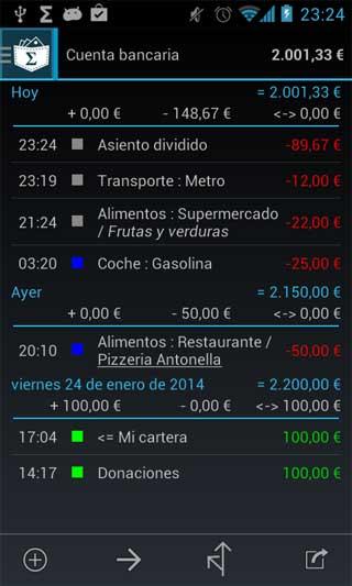تطبيق My Expenses لحساب مصاريف الشهرية واليومية