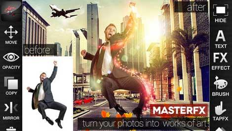 تطبيق MasterFX HD لإضافة مؤثرات سينيمائية على الصور