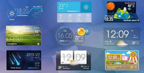 تطبيق Weather Widget للأندرويد