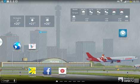 تطبيق YoWindow Free Weather نافذتك على الطقس - للأندرويد