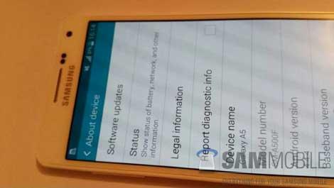 صور مسربة لجهاز سامسونج الجديد Galaxy A5