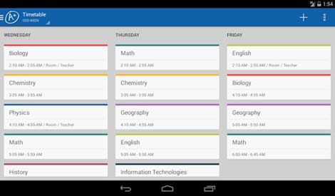 تطبيق School Marks Manager+timetable للأندرويد