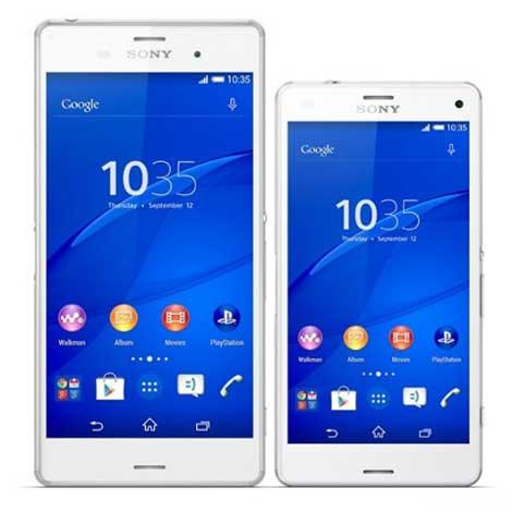 هاتف Sony Xperia Z3 Compact بجانب هاتف Sony Xperia Z3 !