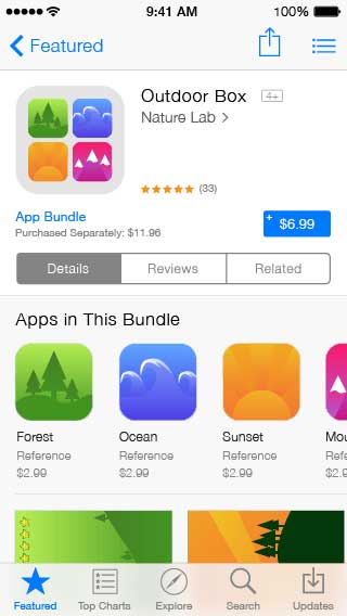 إمكانية شراء حزمة تطبيقات من مطور واحد بسعر مخفض