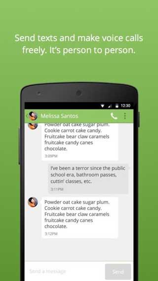 تطبيق الدردشة والمكالمات Bleep للأندروي