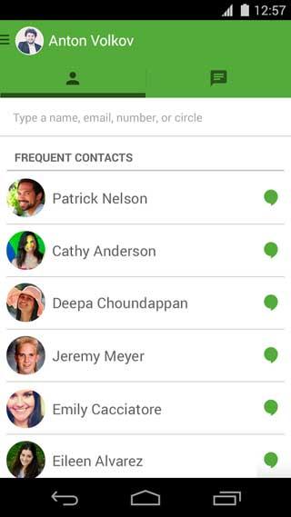 تطبيق Hangouts لإجراء مكالمات مجانية ومنخفضة التكلفة