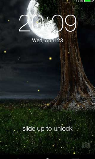 تطبيق IOS 8 Firefly Lock Screen لاعطاء شكل الأيفون لجهازك