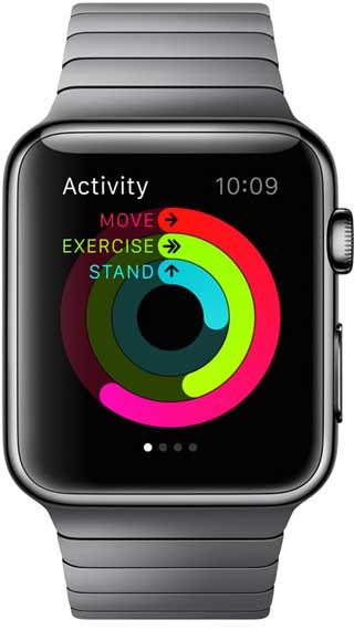 النشاطات الرياضية على ساعة آبل