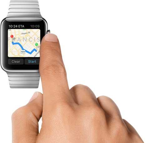 الخرائط على ساعة آبل الذكية