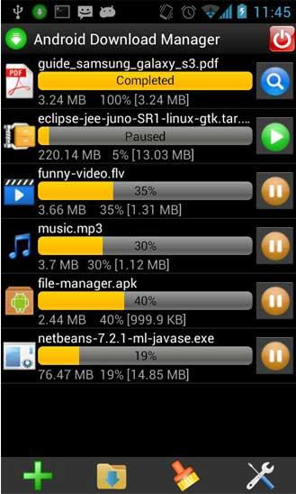 تطبيق Download Manager لتحميل الملفات للاندرويد