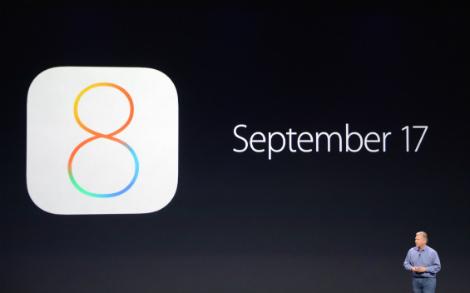إطلاق نظام iOS 8 للجمهور يوم 17 سبتمبر المقبل