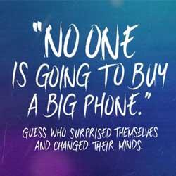 سامسونج تسخر من الأيفون 6 وابل: لا أحد سيشتري هاتف كبير