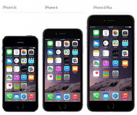 شاشة الآيفون 6 و الآيفون 6 بلس : حجم أكبر !