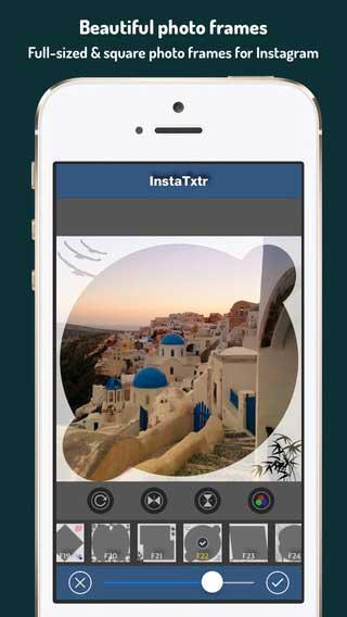 تطبيق InstaTxtr لتعديل صور انستغرام للأيفون