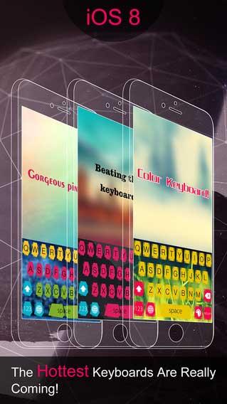 تطبيق Color Keyboard لوحة مفاتيح بأشكال مميزة وألوان كثيرة