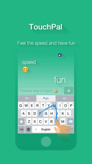 تطبيق TouchPal Keyboard لوحة مفاتيح مع وجوه تعبرية - مجانا