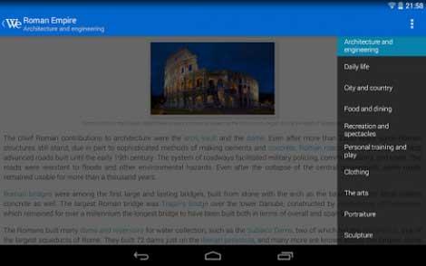تطبيق Wikipedia Reader WikiExplorer للأندرويد