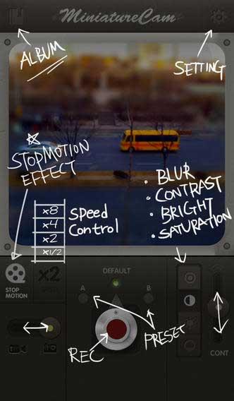 تطبيق MiniatureCam لتصوير فيديو احترافي ميزات كثيرة