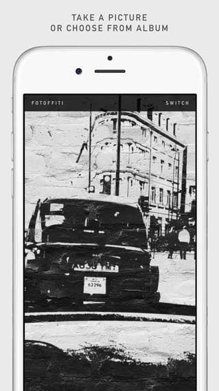 تطبيق Fotoffiti لتحويل صورك إلى جداريات