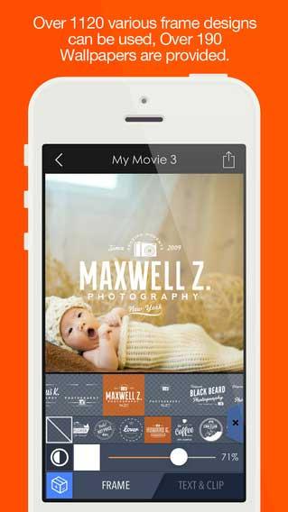 تطبيق Pics2Mov لجمع صورك في فيديو مع مؤثرات