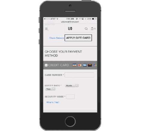 إضافة معلومات بطاقة إئتمانية من خلال كاميرا الأيفون