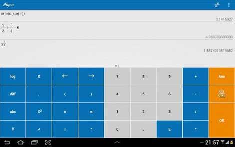 تطبيق Algeo Graphing Calculator آلة حاسبة ذكية للأندرويد