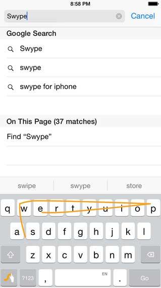 تطبيق Swype - Keyboard البساطة في الاستخدام