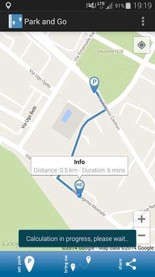 تطبيق Park and Go لمعرفة مكان ركن سيارتك