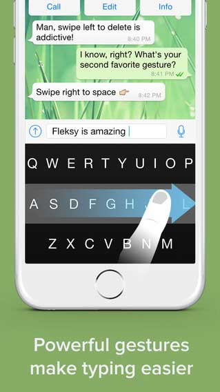تطبيق Fleksy Keyboard لوحة مفاتيح تدعم العربية