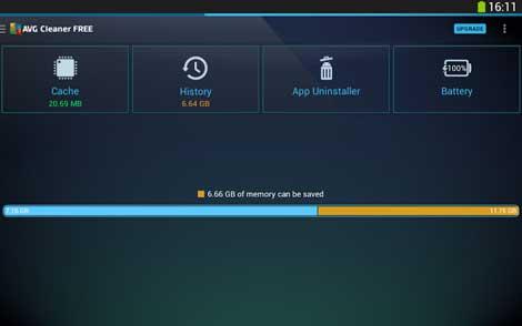 تطبيق AVG Cleaner لتنظيف جهازك من الملفات الزائدة