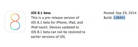 تحديث iOS 8.1 متوفر حالياً للمطورين !
