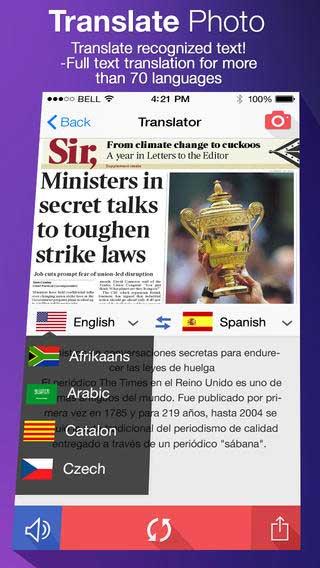 تطبيق Translate Photo لترجمة الصور يدعم العربية