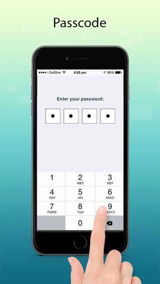 تطبيق passcode for whatsapp